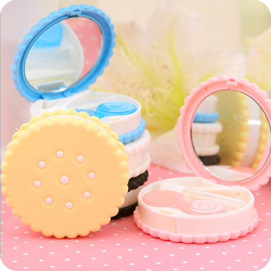 Sweet Cookies Biscuits Series Colored Contact Lenses Box & Case/Contact lens bag Promotional Gift Eyewear Cases - WanDa Fashion Trading Conpany store