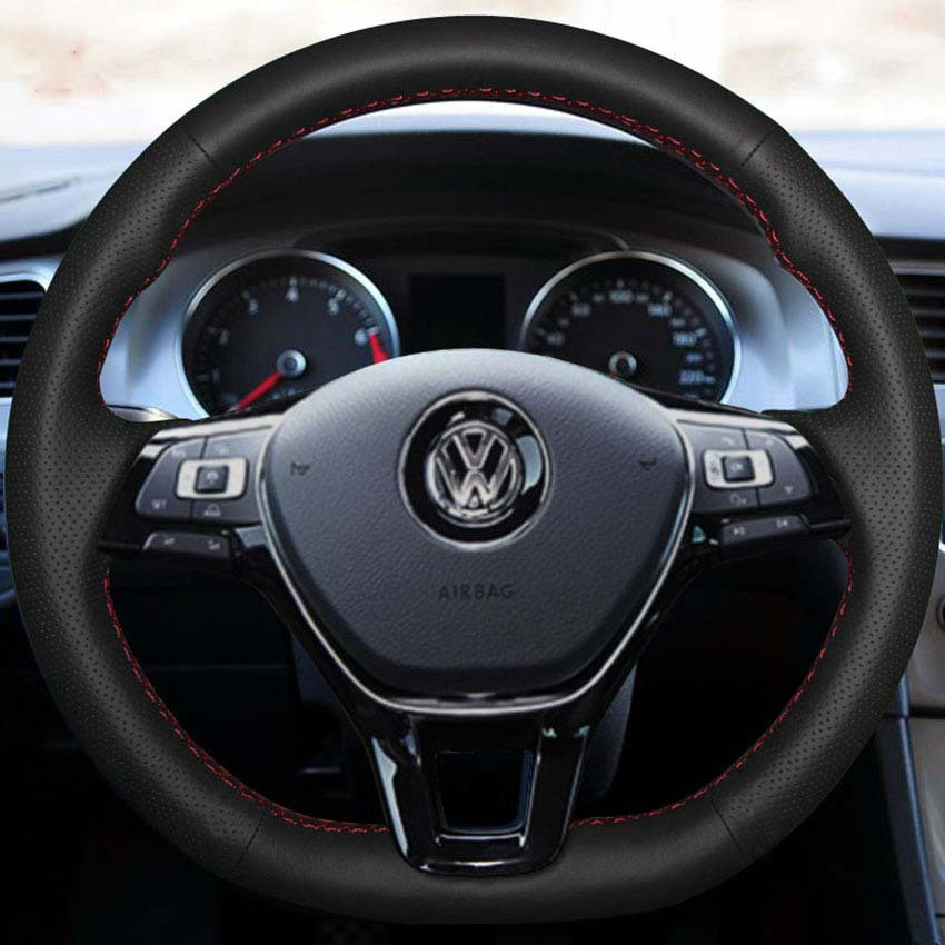 Steering Wheel Leather Covers Case Volkswagen VW GOLF 7 2014 Genuine DIY Car-styling Hand-stitched - Yuji-Hong Internation Store store