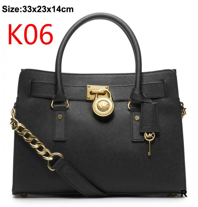 MK genuine leather bag European and American fashion women bag and wallets MK8811 women messenger bags Black(China (Mainland))