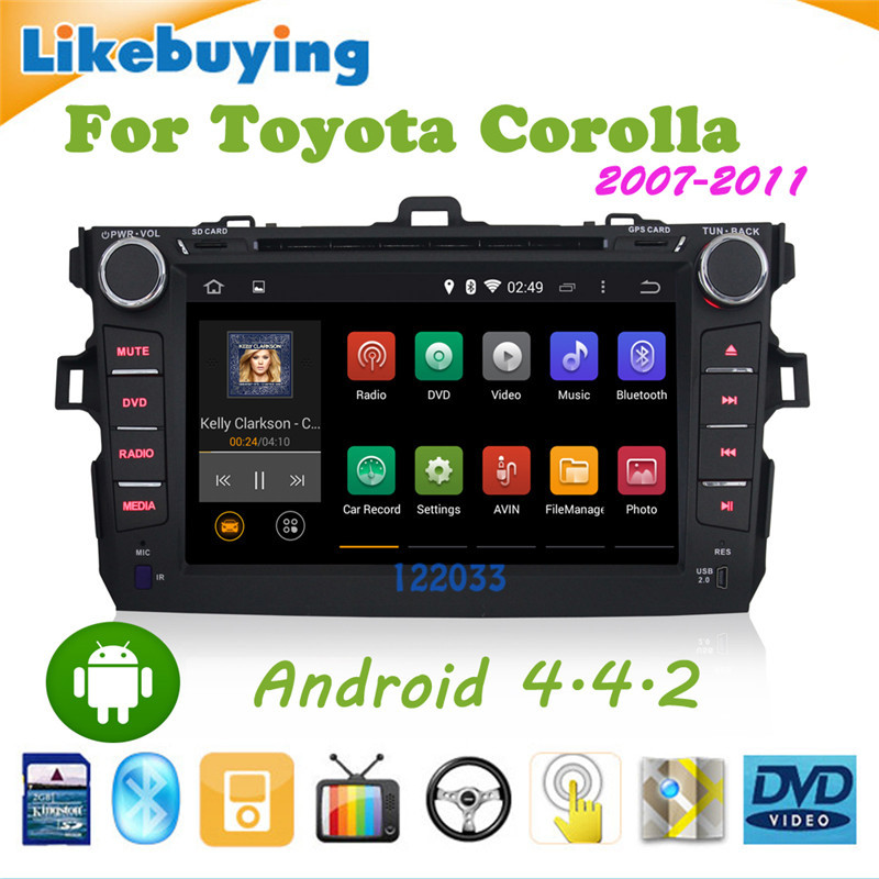 Free rear camera+Map+ two din 1024X600 Android 4.4.car gps player stereo NAV toyota corolla dvd 2007 2008 2009 2010 2011 - Shenzhen Being Lucky Trading Co.,Ltd store