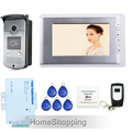 FREE SHIPPING New Wired 7 inch Color Screen Video Door Phone Intercom System 1 Monitor RFID