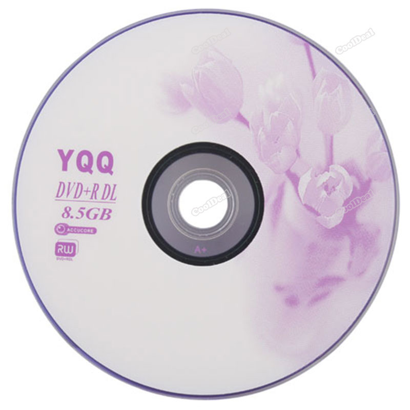 nicebid Lowest price 5Pcs New 8X Blank Recordable Printable DVD+R DVDR Blank Disc Disk 8X Media 8.5GB top quality(China (Mainland))