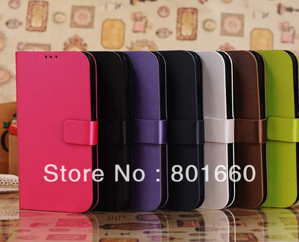 Wire Drawing PU Leather Flip Stand Cover Case For Samsung Galaxy S IV S4 I9500 Free Shipping + 5pcs/lot