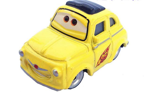 New Pixar Cars 2 Toys Diecast Metal Luigi Yellow Mini Cars 95 1:55 Scale Children's Toys(China (Mainland))