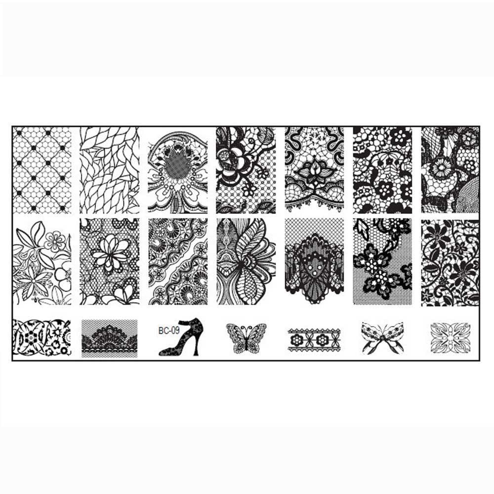 1PC Women Nail Art DIY Nail Stamp Stamping Image Plate Print Nail Art Template(China (Mainland))