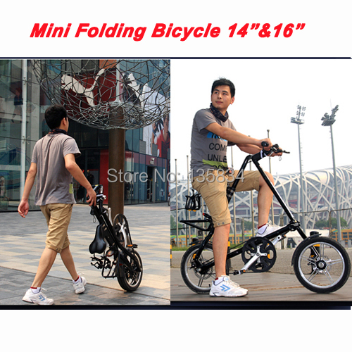 "Excelli 14"" and 16"" Folding Bike Brand Travel bike Folding Mini Bicycle Bicicleta Super Light BMX Bike Women and Man City Bike(China (Mainland))"