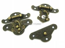 "10 Sets Metal Jewelry Box Lock, Case Lock, Wooden Box Lock Antique Bronze Pattern Carved 3.7cm x 4.9cm(1 4/8""x1 7/8""),B0021(China (Mainland))"