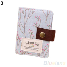 20 Slots Floral Credit ID Card Wallet Purse Holder Pouch Coin Bag Storage 1JX1
