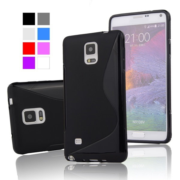 Гаджет  S LINE Gel TPU Slim Soft Case Back Cover for Samsung Galaxy Note 4 N9100 N910F N910X Mobile Phone Rubber silicone Bag Case None Телефоны и Телекоммуникации