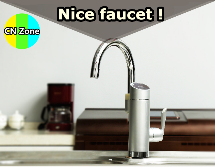 Free shipping instant hot water faucet tap electric fast heater tankless heating 3kw kitchen cold dual-use 2016 new arrival(China (Mainland))
