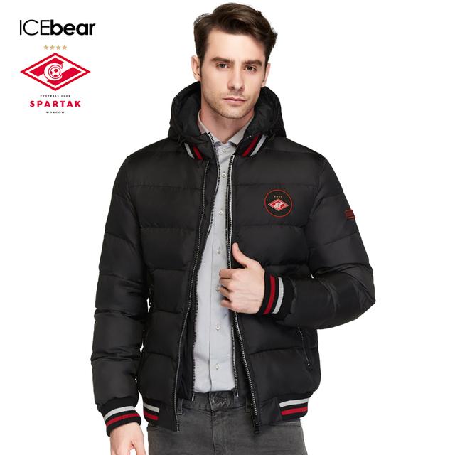 SPARTAK-ICEbear Совместное Производство 2016 Новая Зимняя Коллекция Casual Толстый Зимний Мужчины Био Вниз Пальто Куртки Мужчины Куртка 16M872D