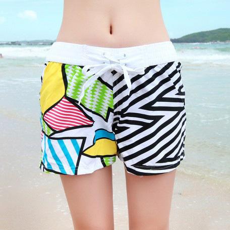 2015 Shorts Men Beach pants Lovers Zebra Loose Casual Couples Swimwear Short De Bain Femme Surf Clothing Brands - Romantic Beachwear store