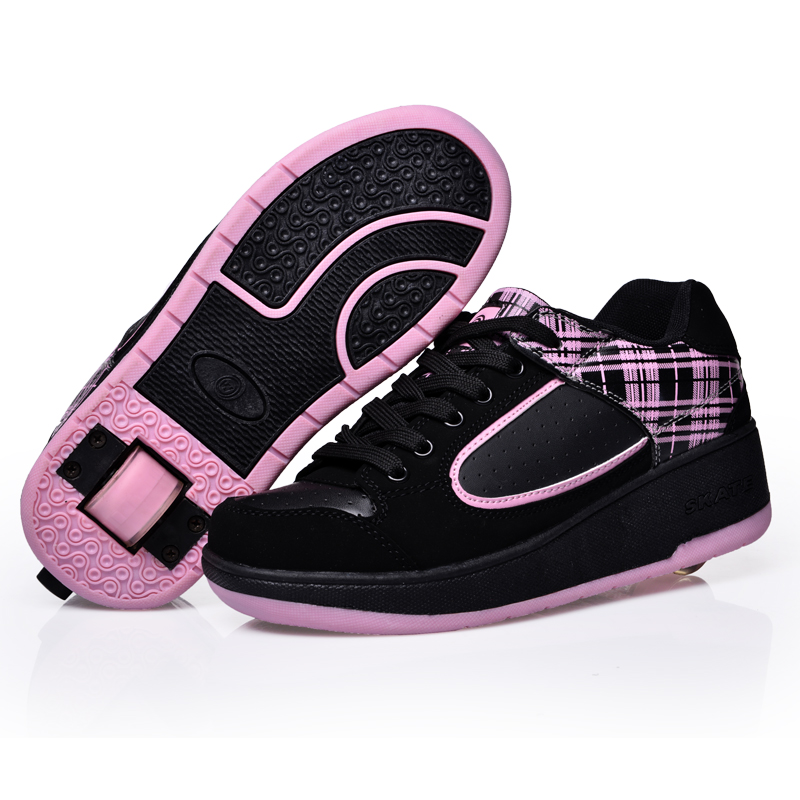 2014 Children flying Shoes single wheel roller shoes pulley Button kids sneakers casual sport Roller 29-40 - jindoudou store