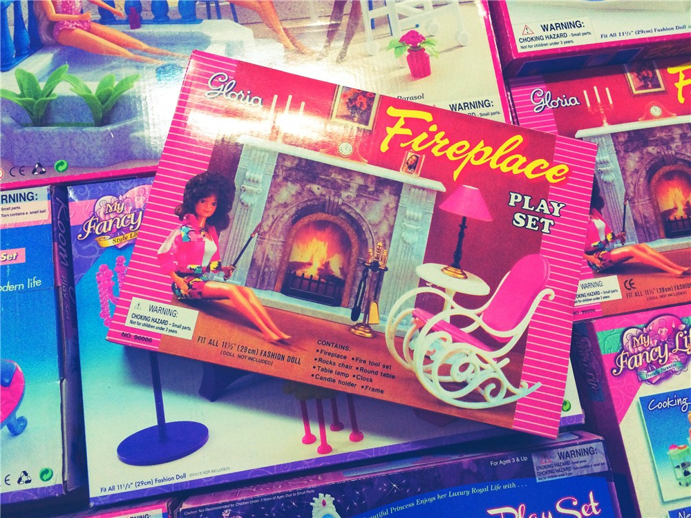 Miniature Hearth Furnishings for Barbie Doll Home Fake Play Toys for Woman Free Transport