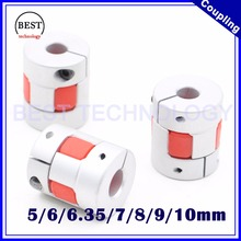 Plum coupling D=25mm L=30mm Jaw Flexible Coupling Spider Coupler Inner hole 6.35 10 mm 5 / 6 7 8 9 - BEST Technology CO.,Ltd. store