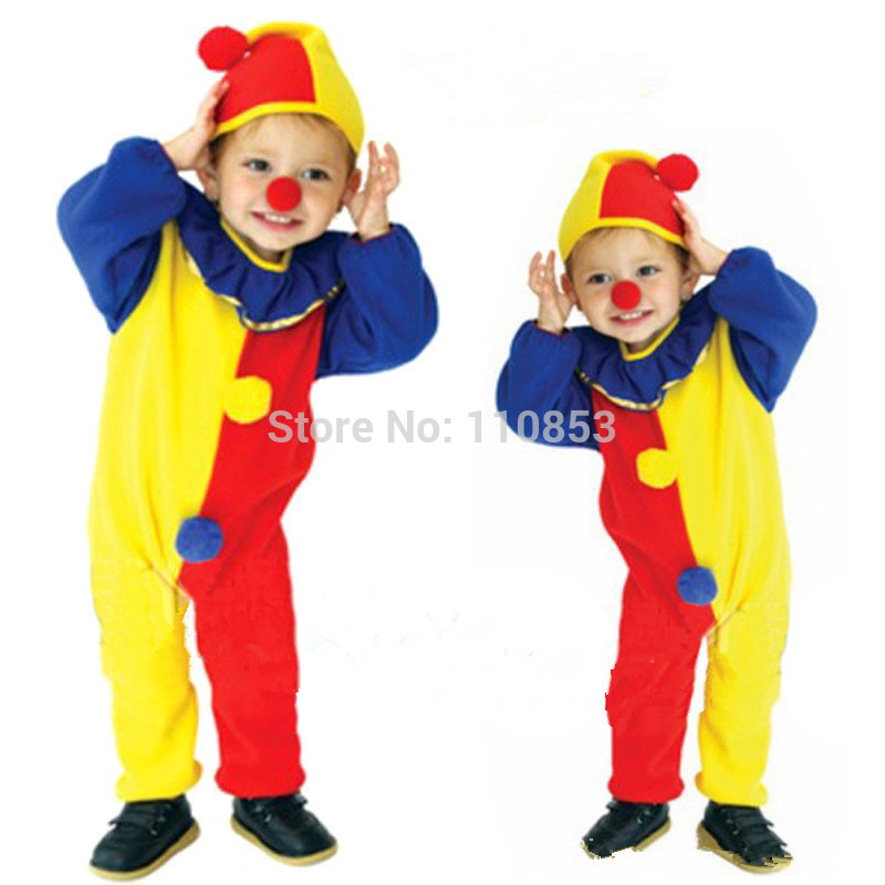 New Colorful Cute Clowns Humorous Children Cosplay Hallowean Costumes Kids Evening Party Boy Suits D1215C - Sequoia Trading Company (No. 2 store)