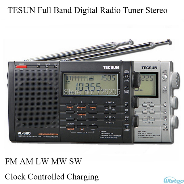 TESUN Full Band Digital Radio Tuner Tuning Stereo Clock Controlled Charging FM AM LW MW SW Air Battery Audio Free Shipping(China (Mainland))