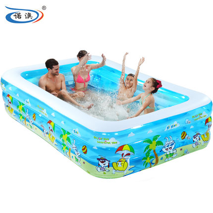 Child inflatable swimming pool large sea ball pool for Biggest paddling pool