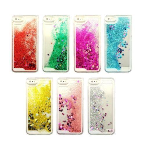 Transparent Fashion Dynamic Liquid Glitter Colorful Paillette Sand Quicksand Back Case Cover iPhone 5 5S 6 4.7 - Shenzhen SmallTimes Store store