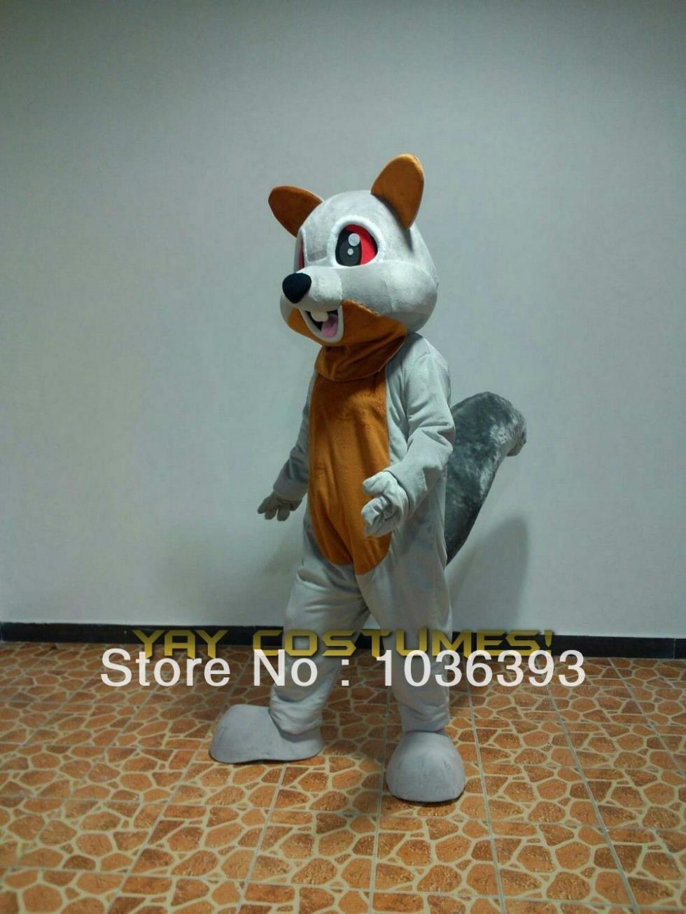 Squirrel 02 Grey Cute mascot costume animal mascot suit carnival costume fancy dress costumes animal mascot party costumes(China (Mainland))