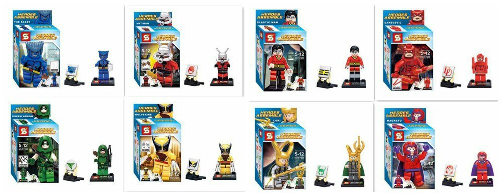 SY259 Super Heroes Avengers Minifigures magnet / loki /green arrow Assemble Building Blocks Bricks action baby Toy - Happy Shopping Toys Club store