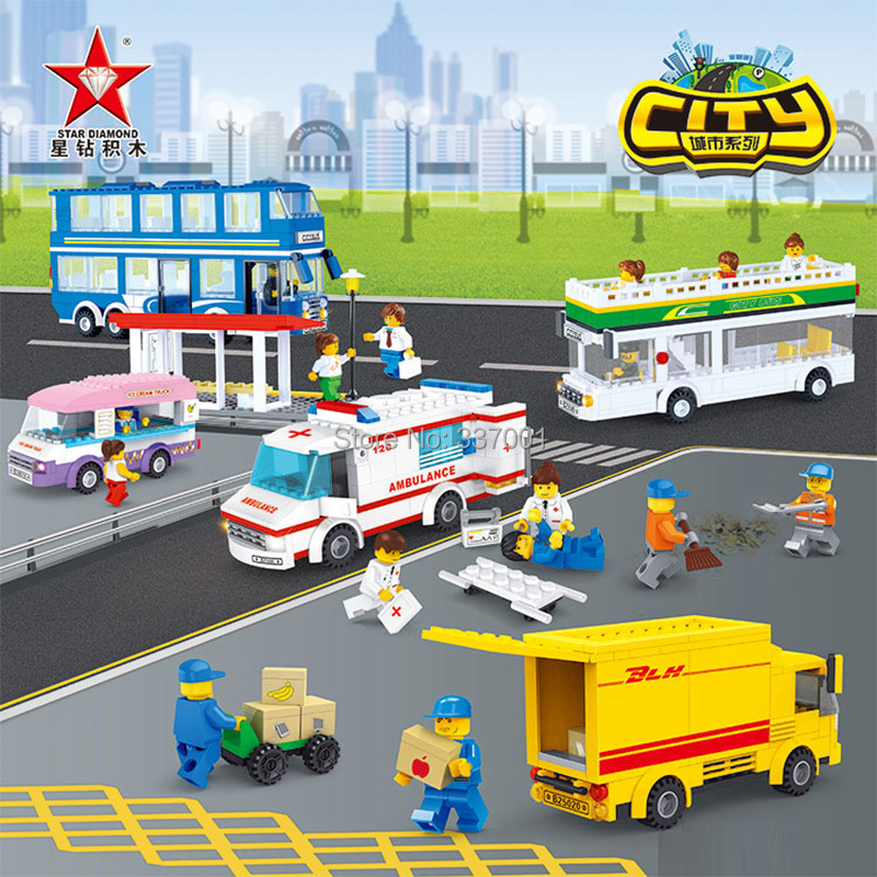 2015 Educational model assembled toy building blocks urban express car series, compatible lego - Online Store 337001 store