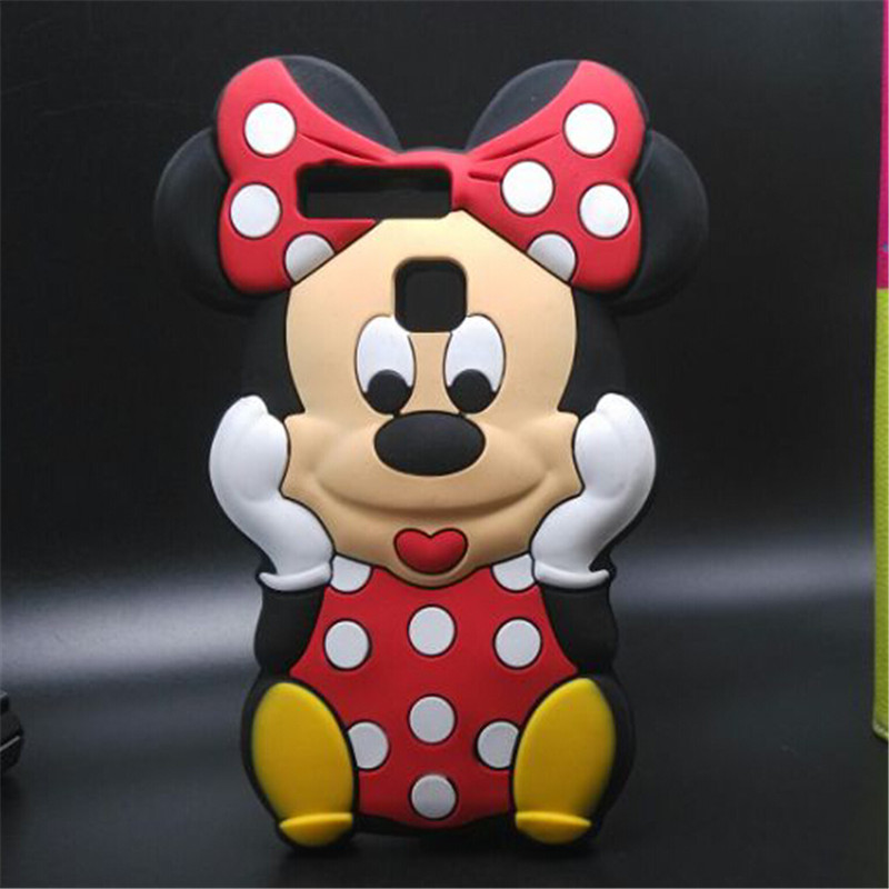Mobile phone case for huawei p9 3d lovely white dot minnie mouse soft silicone back cover bag in - Minnie mouse mobel ...