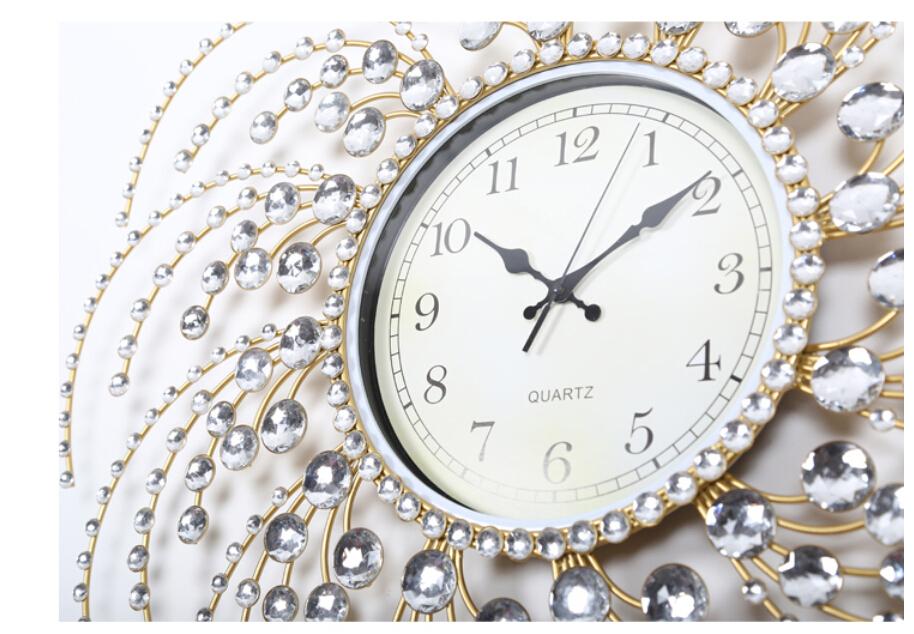 Large Metal Wall Clocks Cafe Home Decor Large 60cm Vintage