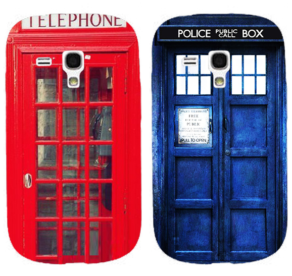 Mix Colors Telephone Booth Letters Series 3D Luxury mobile phone cases back cover skin shell For Samsung galaxy s3 mini i8190(China (Mainland))