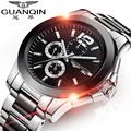 Original GUANQIN Automatic Mechanical Men Watch Top Brand Luxury Business Ceramic Watches Luminous Calendar Clock Reloj