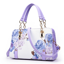 Cartoon Printing Women Plaid Bags Designer High Quality Leather Shoulder Bag Ladies Bling Chain Handbags Sac a Main Casual Totes(China (Mainland))