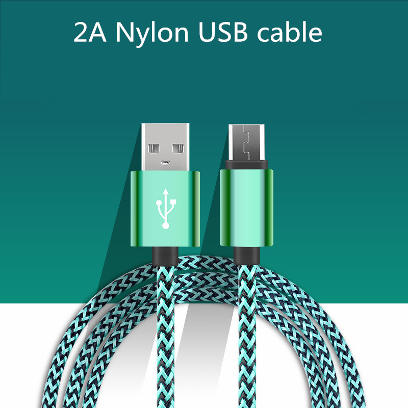 Nylon Android micro 0.5m 1m 1.5m 2m 3m charging Data Sync USB cable SamsungS3 S4 S6 xiaomi phone charger adapter USB cable