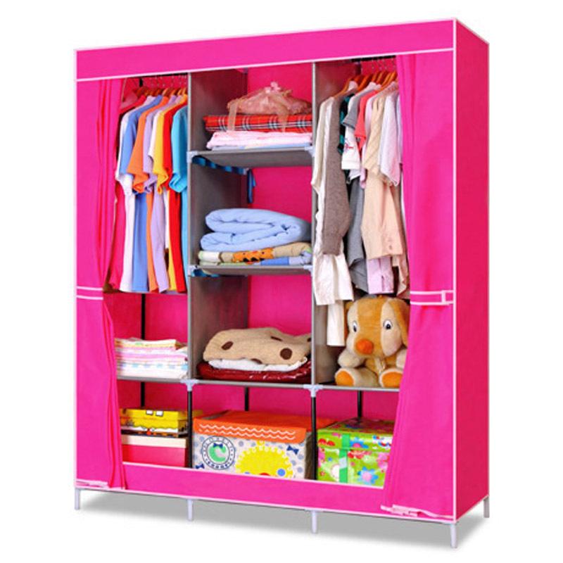 Portable Wardrobe Oxford Fabric Closet Storage Organizer