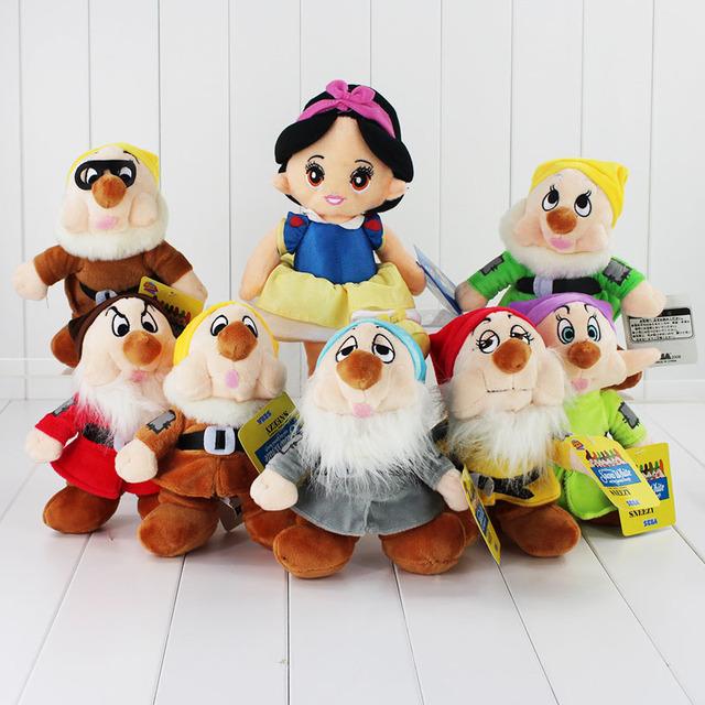 Детские игрушки 8 шт. плюшевые белоснежка и семь гномов куклы детские игрушки подарок для малыша детей интерактивные игрушки аниме игрушки для девушки