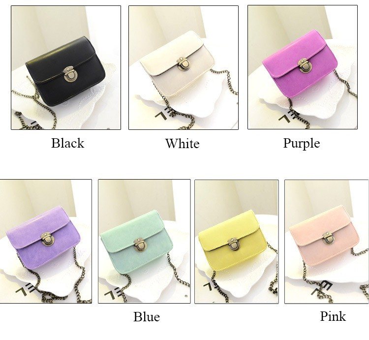 Cheap wholesale Christmas gift small hasp women messenger bag new fashion girl bargain price female pink black shoulder bag