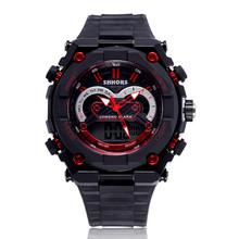 2015 marca Sport hombres reloj Digital Diver LED Swim relojes para hombre del ejército Chasy doble movimiento multifunción calidad hombres del reloj 3ATM