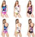 Sexy Rainbow Unicorn Women s One Piece Swimsuit Cute Alpaca 3D Digital Printing Ladies Swimwear Antelope