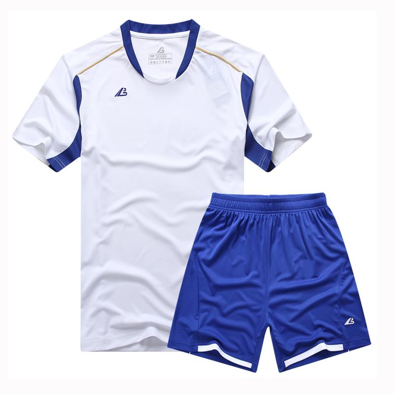 2015 Newest Football Suit Men Soccer Training Jersey Set Blank Breathable Short Sleeve Futbol Clothing Tracksuit L-4XL Customize(China (Mainland))