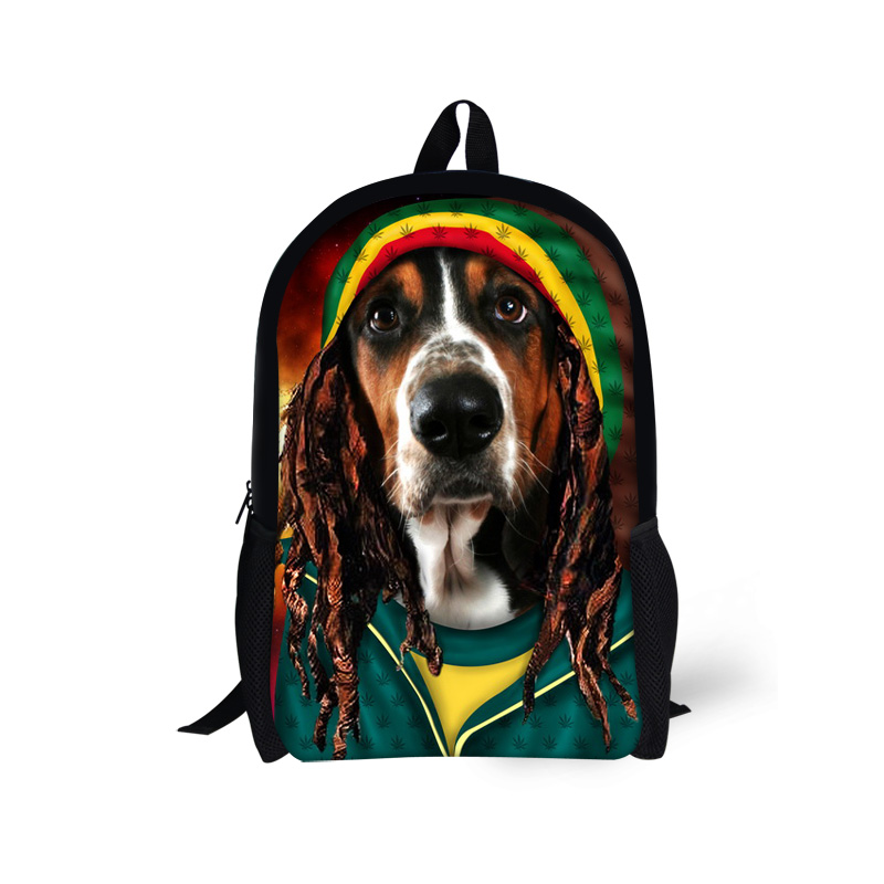 Hot! New Dogs Novelty Backpack for Teenager Boys Children Outdoor Rucksack Youth Satchel Children Mochila Schoolbag Age 7-16(China (Mainland))