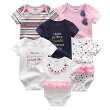 6 قطعة/الوحدة الوليد الطفل داخلية قصيرة sleevele الطفل الملابس س الرقبة 0-12M الطفل بذلة 100% القطن الطفل الملابس الرضع مجموعات(China)