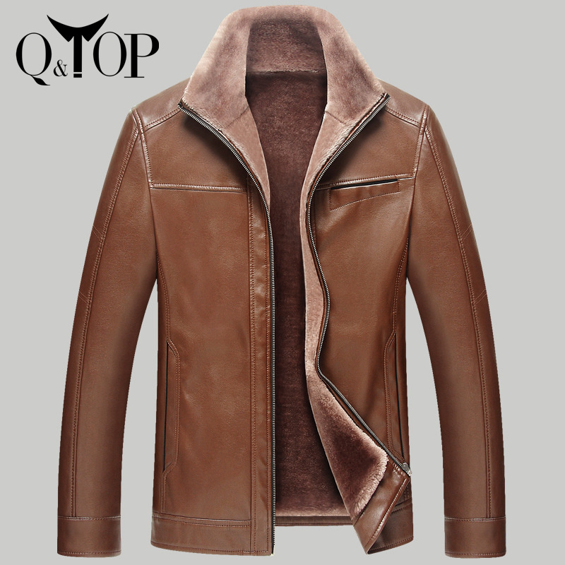 Q&amp;TOP New fashion 2015 PADDING COATS jacket brand men genuine leather warm winter slim outwear HIGH QUALITY free shipping 2colorОдежда и ак�е��уары<br><br><br>Aliexpress