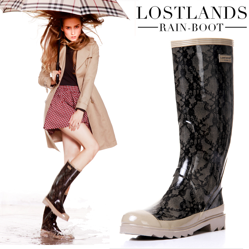 Brilliant Fashion Womens Rain Boots Rubber 4 Style To Choose Ladies Wellies Mid
