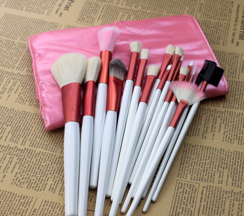 Hot sale pincel maquiagem 20pcs pink make up brushes professional high quality beauty ornament Kit with PU bag of make up(China (Mainland))