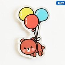 1 pz Cartoon Panda Bear Distintivi e Simboli Per L'abbigliamento Kawaii Acrilico Distintivi e Simboli Icone Sullo Zaino Icone Sul Spille Spilla distintivo femminile(China)