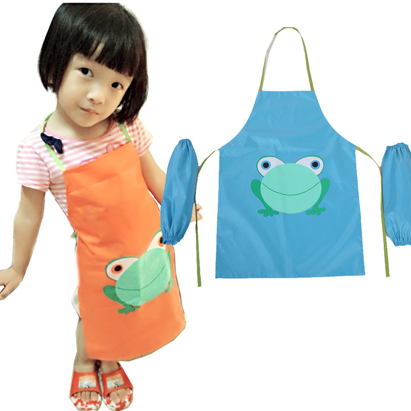 BOHS Children's Painting Cooking Oil Proof Waterproof Apron Clothes