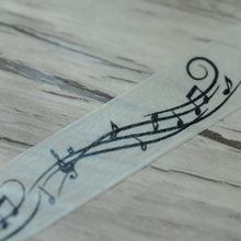 Kawaii Washi Tape Decorative Masking Tape , pattern of Music Score Notation, 15mm*15m , cintas adhesivas scrapbooking