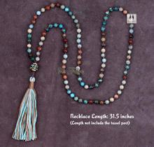 Exclusive High End 6MM Mixed Natural Jasper Long Tassel Beads Necklace Luxury Handmade Beaded Bohemia Women Necklace(China (Mainland))