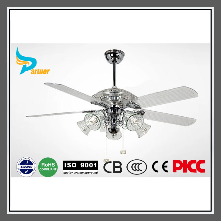 Partner New Modern Ceiling Fans Clear Color Leaf Ceiling Fans With Light And Remote Control
