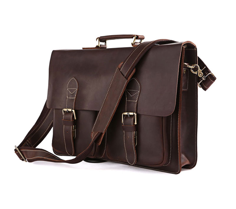 The first layer of leather briefcase handbag cool 7105(China (Mainland))