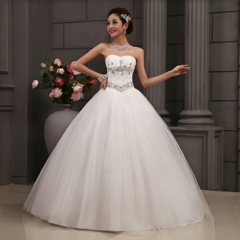 Buy hot free shipping white princess for Wedding dress free shipping